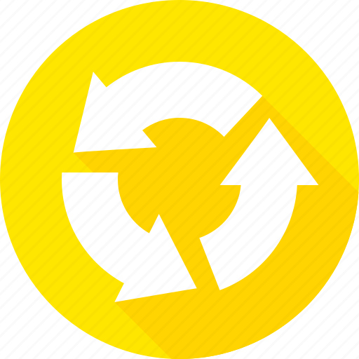 circular, intersection, recycle, sign, warning icon