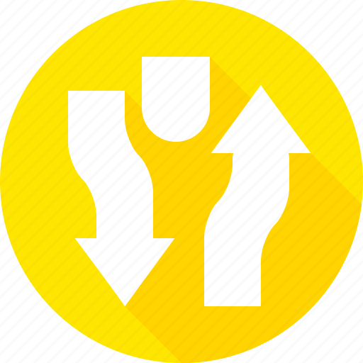 divided, highway, sign, warning icon