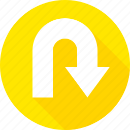 curve, hairpin, sign, turn, u-turn, uturn, warning icon