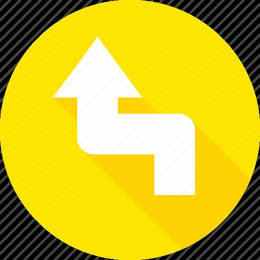 left, reverse, sign, turn, warning icon