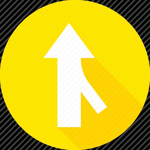 merging, sign, traffic, warning icon