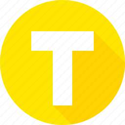 intersection, sign, t, warning icon