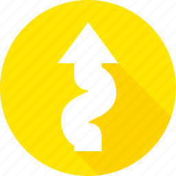 curve, left, road, sign, warning, winding icon