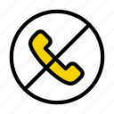 call, stop, sign, notallowed, phone