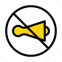 horn, notallowed, silent, board, sign icon