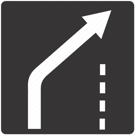 Lane, road, sign, traffic icon - Download on Iconfinder