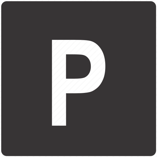 parking, road, sign icon