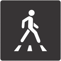 crossing, pedestrian, road, sign, traffic icon