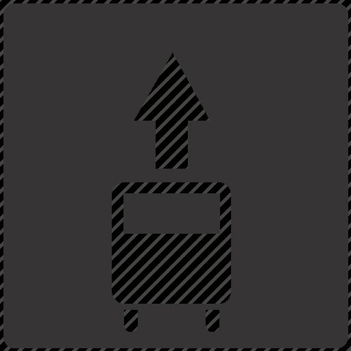 lane, public, road, sign, traffic, transport icon