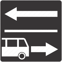 lane, public, road, sign, traffic, transport icon