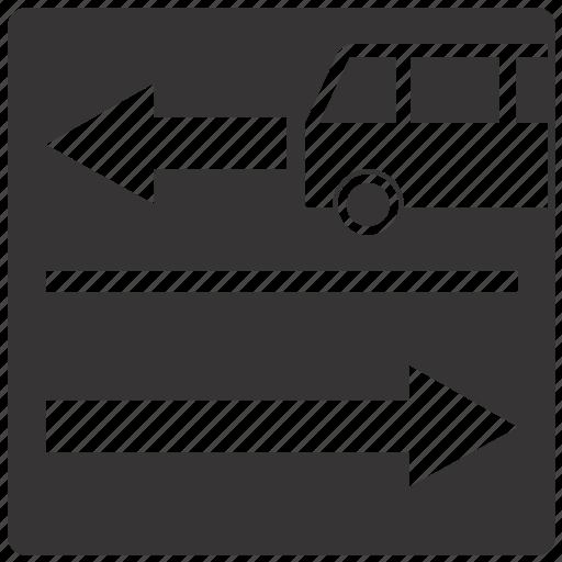 Lane, public, road, sign, traffic, transport icon - Download on Iconfinder