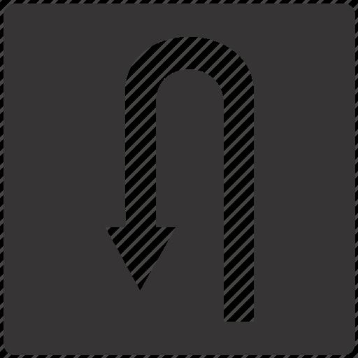 lane, road, sign, traffic, turn icon