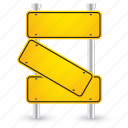 broken, road, shape, sign, yellow icon