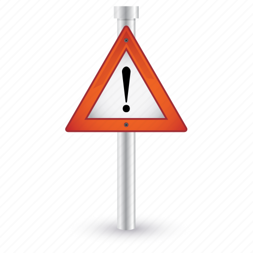 caution, danger, road, sign, traffic, warning icon
