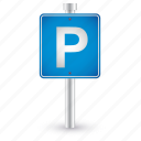 parking, sign, car, road, traffic