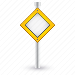 pass, priority, road, sign, traffic, warning icon