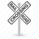 alert, caution, danger, railroad, road, sign, warning icon