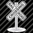 railroad, sign, alert, caution, danger, road, warning