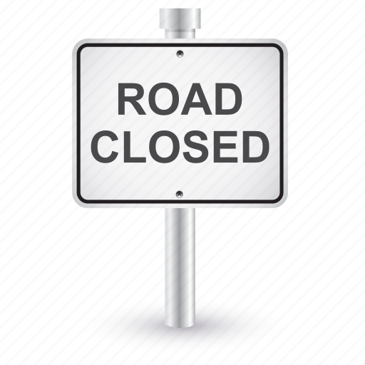 Closed, road, sign, traffic icon - Download on Iconfinder