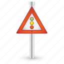 road, semaphore, sign, traffic, warning icon