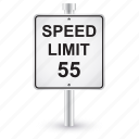 limit, sign, speed, road, shape, traffic