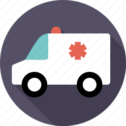 ambulance, automotive, emergency, traffic, transport, van, vehicle icon
