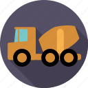 automotive, concrete, construction, transport, truck, vehicle icon
