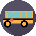 bus, education, school bus, traffic, transport, vehicle icon