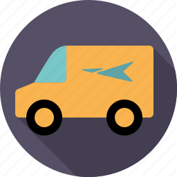 automotive, delivery, mail, parcel, transport, van, vehicle icon