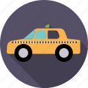 automotive, cab, car, taxi, transport, vehicle, yellow icon