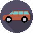 automotive, car, station wagon, traffic, transport, vehicle icon