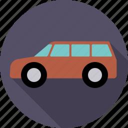 automotive, car, station wagon, traffic, transport, vehicle icon