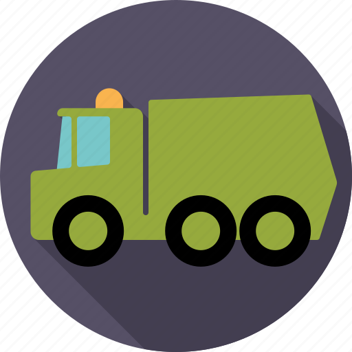 automotive, dump, garbage, lorry, transport, truck, vehicle icon