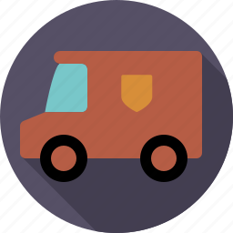 automotive, delivery, parcel, traffic, transport, van, vehicle icon