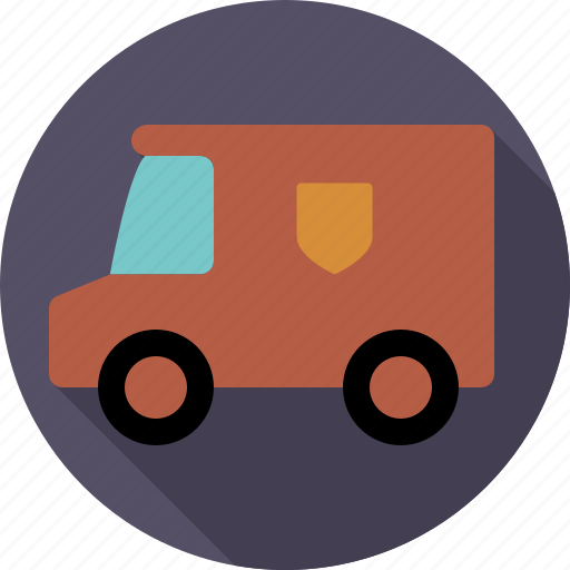 automotive, delivery, parcel, traffic, transport, van, vehicle icon