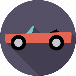 automotive, car, convertible, roadster, traffic, transport, vehicle icon