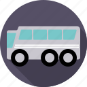 automotive, bus, coach, silver, traffic, transport, vehicle icon