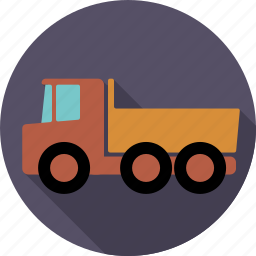 automotive, construction, lorry, traffic, transport, truck, vehicle icon