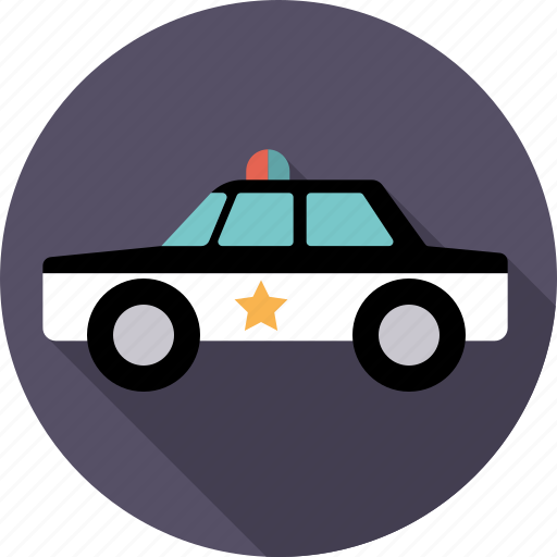 automotive, car, police, traffic, transport, vehicle icon