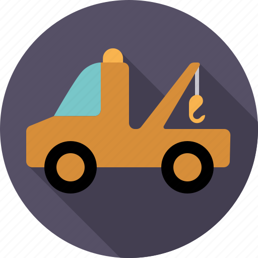 automotive, tow truck, traffic, transport, truck, vehicle icon