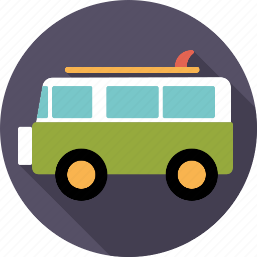 automotive, bus, camper, surfer, transport, van, vehicle icon
