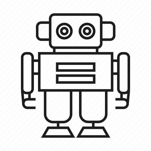 android, artificial intelligence, cartoon, cyborg, humanoid, robot, toy icon
