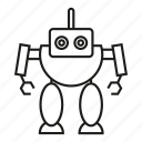 android, artificial intelligence, cyborg, humanoid, robot, robotic, toy icon