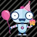 robot, emoji, sticker, birthday, emoticon