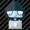 robot, emoticon, computer, hacker, emoji, sticker icon