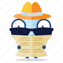 emoji, emoticon, incognito, robot, secret, sticker icon