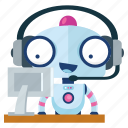 computer, emoji, emoticon, robot, sticker, support