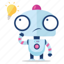 emoji, emoticon, idea, robot, sticker, thought