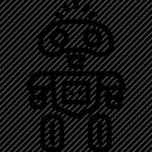 ai, android, future, robot, technology icon