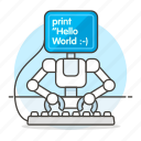 coding, programming, working, hello, robot, learning, developer, ai, machine, world